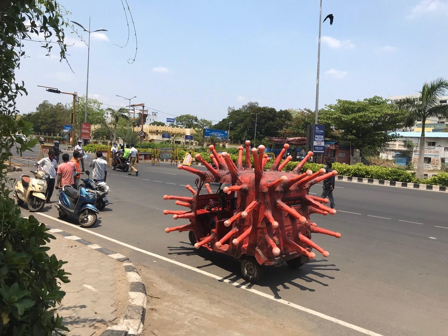インド コロナ オートリキシャ